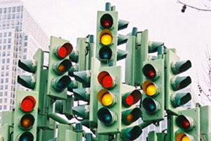 Что означает мигающий светофор?